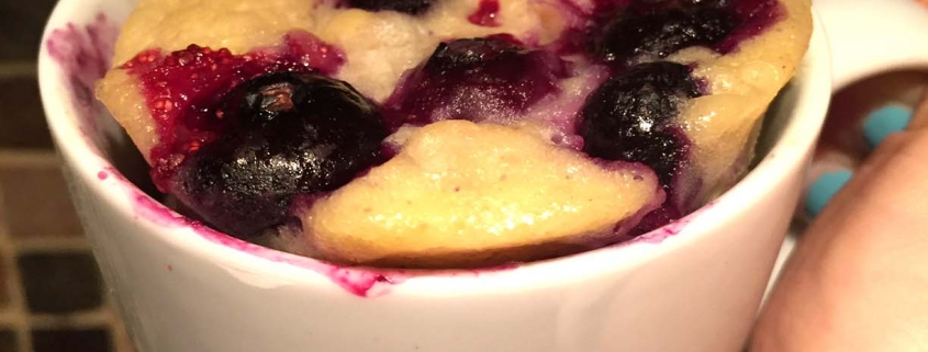 Healthy Gluten Free Blueberry Banana Mug Cake