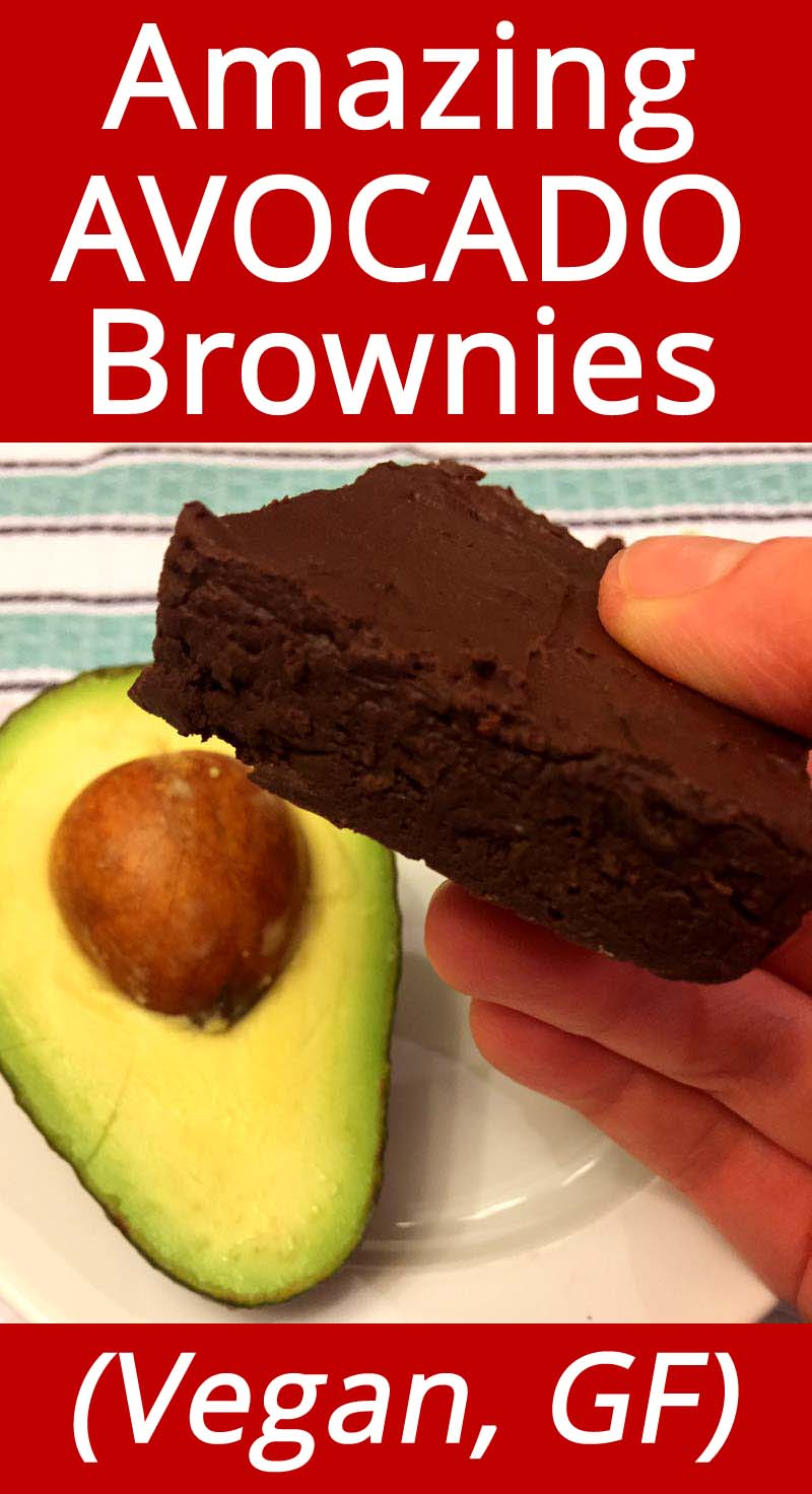 These avocado brownies are amazing! You can\'t taste the avocado, they taste like regular brownies! Healthy, vegan and gluten-free - this recipe is a keeper!