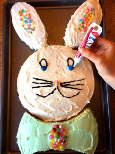 Decorating Easter Bunny Cake
