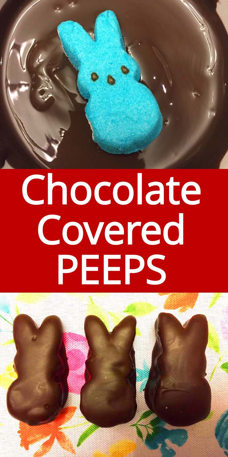 OMG these chocolate covered PEEPS are so cute! So easy to make, this is a must for Easter!