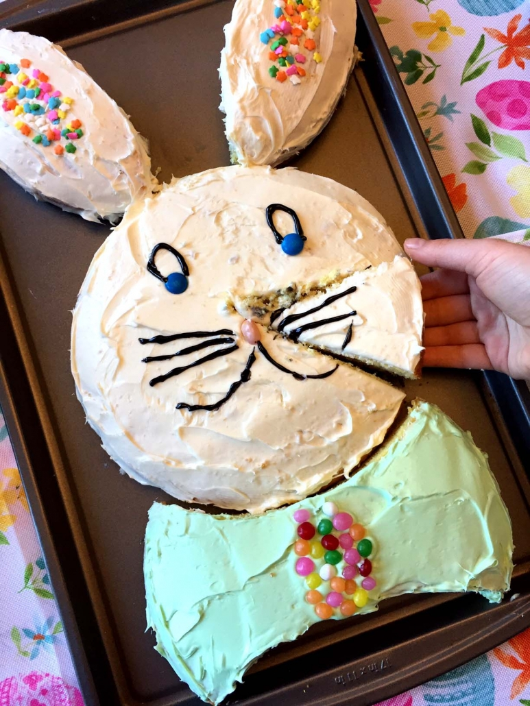 How To Make Easter Bunny Shaped Cake