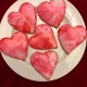 Glazed Pink Hearts Valentines Sugar Cookies