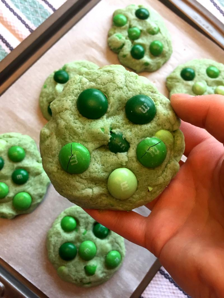 Green Mint M&M's Cookies