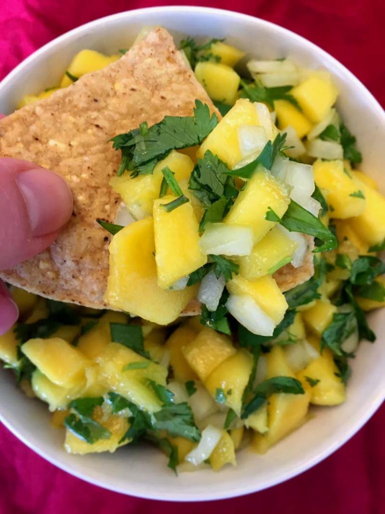 healthy mango salsa