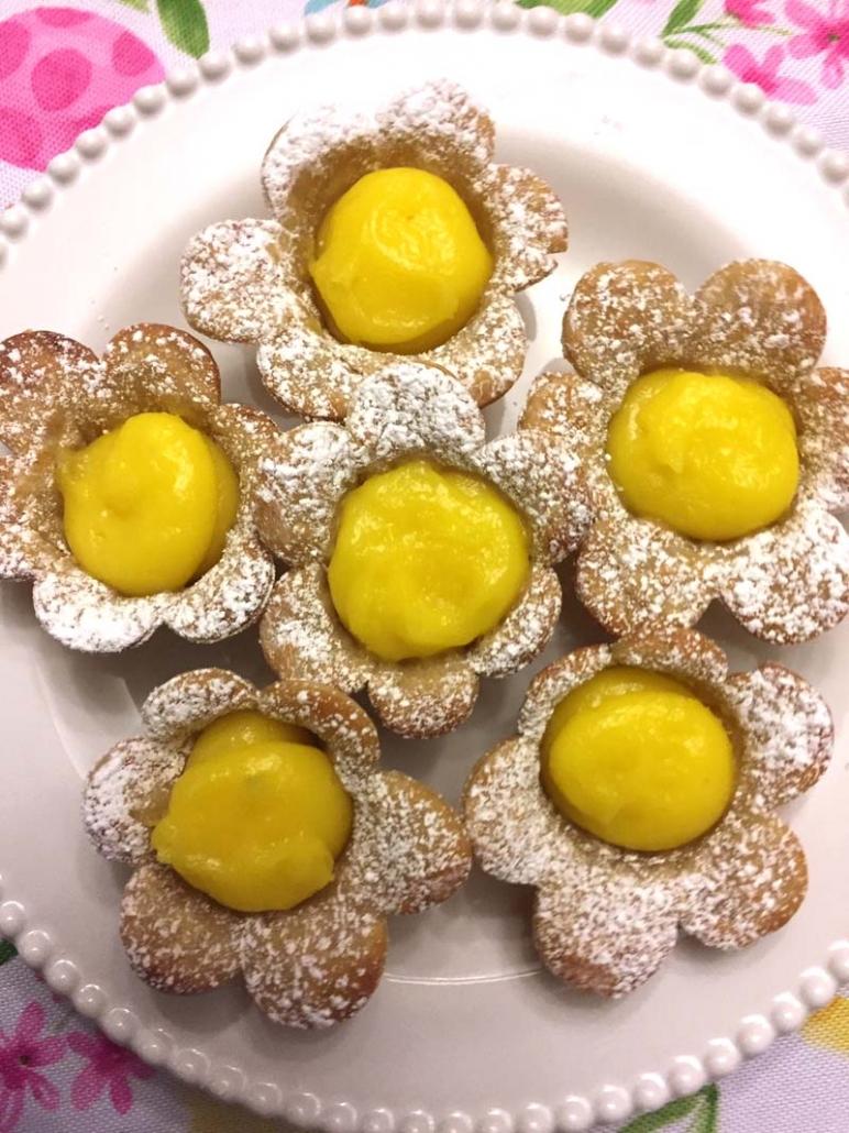 Flower Shaped Lemon Pastries Recipe