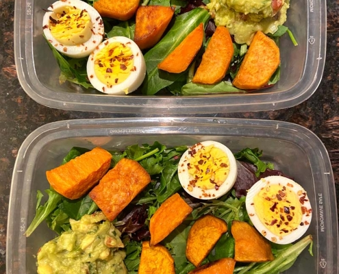 Sweet Potato Avocado Egg Meal Prep