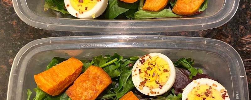 Sweet Potato Avocado Egg Meal Prep