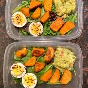 sweet potato egg avocado meal prep