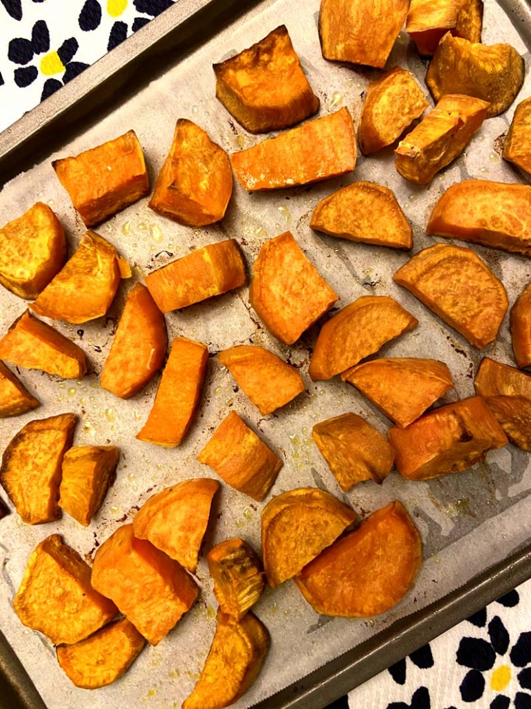 easy roasted sweet potato