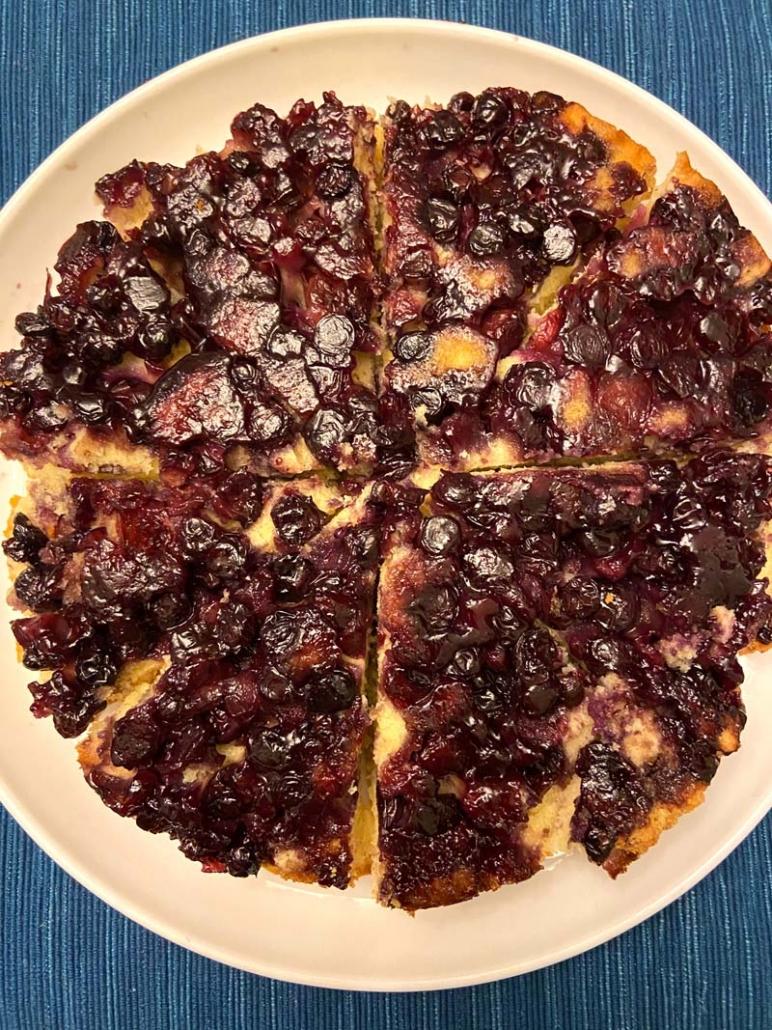 Upside Down Blueberry Cake Recipe