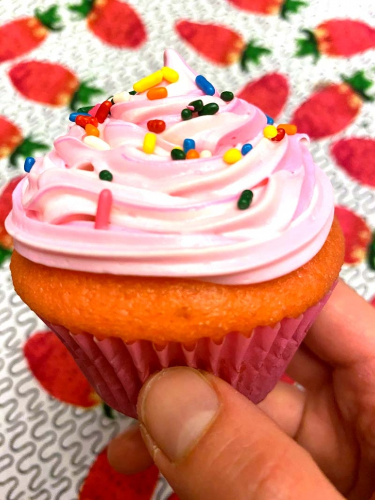 pink cupcakes easy