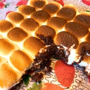 Marshmallow Smores Brownies Using Brownie Mix