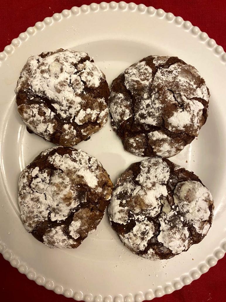 powdered sugar dessert